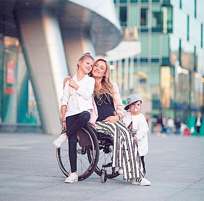 Ксения Безуглова и дочь с сыном
