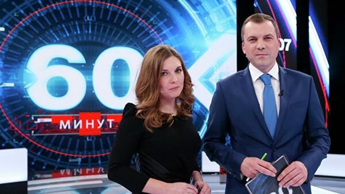 Евгений Попов и ведущая