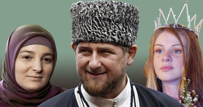 Рамзан Кадыров с женами